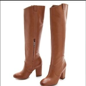 🌈NEW Sam Edelman Tall Tan LeatherTucker boots 8.5